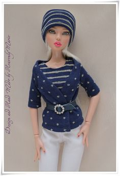 Deja Vu Emma Knit Top Pants Cardigan Tonner Doll Outfit by Heavenly Marie | eBay