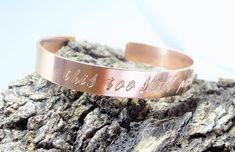 This too shall pass copper cuff bracelet / inspirational cuff bracelet / quote bracelet / handstamped copper cuff