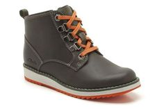 Boys Boots - Fleet Hike Inf in Khaki Leather from Clarks shoes