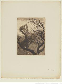 La Souffrance de Chiron, entre 1880 et 1913, eau-forte et aquatinte, à l'encre brune, sur papier vergé, 17,5 x 12,4 cm, Bibliothèque Nationale de France à Paris.