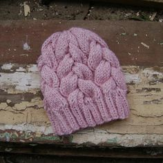 Pink Braided Cable Knit Beanie, Winter Hat for women Fingerless Gloves Knitted, Knitted Hats, Knit Beanie, Beanie Hats, Teapot Cover, Best Gloves, Winter Hats For Women, Wrist Warmers, Cable Knit