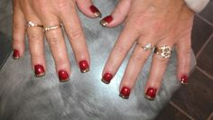 Christmas nails with opi gel polish