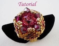 Tutorial Dushi Ring  Bead pattern por Ellad2 en Etsy