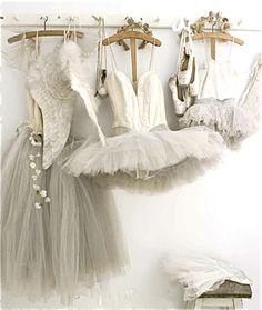 Tutu dresses on hangers