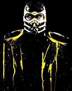 Mortal Kombat #Scorpion Fine Art Print by Justin13Art on Etsy, $15.00