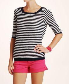 Fall Sweater Essentials -- Quiksilver Open Knit Stripe Sweater #SouthMoonUnder