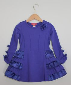 Take a look at this Purple Ruffle Dress - Toddler & Girls by One Kid on today! Using the Sunshine Dress Pattern Baby Girl Frocks, Frocks For Girls, Cute Dresses, Beautiful Dresses, Girls Dresses, Ruffle Dress, Baby Dress, Ruffles, Toddler Girl Dresses
