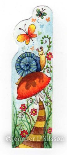 Original hand-painted watercolor bookmark! Triple sealed for protection. Artist Signed.