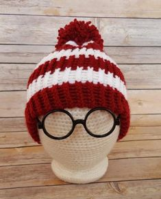 Red White Where Hat Scarf Glasses Knitted School Book Week Puzzle Find Me