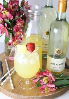 Pineapple Sangria using Mirassou Moscato is sunny, sweet and oh so delicious.