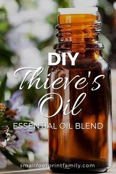With cold and flu season in full swing, everyone should keep this DIY Thieves oil recipe in their natural first aid kit to kill germs and prevent illness. Essential Oils For Colds, Thieves Essential Oil, Essential Oil Uses, Young Living Essential Oils, Essential Oil Diffuser, Anti Viral Essential Oils, Thieves Oil Recipe, Theives Oil, Living Oils