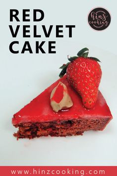 Here is tasty and easy 'Red velvet cake recipe' without oven. If you are looking how to make red velvet cake from scratch then watch this recipe tutorial. Cake Recipes Without Oven, Cake Recipes From Scratch, Easy Cake Recipes, Red Velvet Cheesecake, Pumpkin Cheesecake, Easy Red Velvet Cake, How To Make Red, Huge Cake, Strawberry Topping