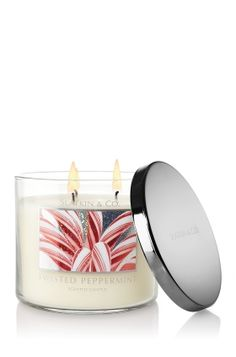 I really liked this candle at Christmas time! So much that I bought a few extra for bath time :-) Ahhh...   Twisted Peppermint Candle  Bath and Body Works