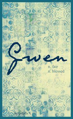 Baby Girl Name: Gwen. Meaning: Fair; Blessed. Origin: Welsh; Celtic. http://www.pinterest.com/vintagedaydream/baby-names/