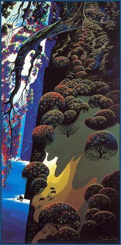 Eyvind Earle, Enchanted Coast, 1980