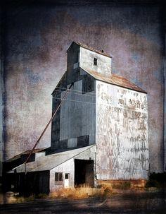 Grain Elevator Wall Art Tractor Wall Decor Prairie Print