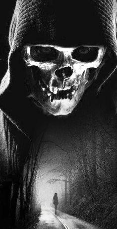 Wallpaper Desenho Caveira New Ideas Skull Tattoo Design, Skull Tattoos, Body Art Tattoos, Sleeve Tattoos, Tattoo Ink, Dark Artwork, Skull Artwork, Dark Art Drawings, Grim Reaper Art