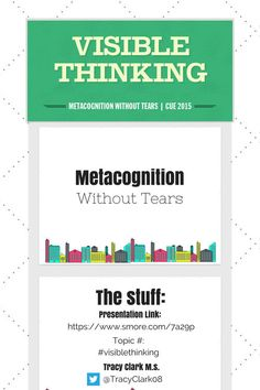 Visible Thinking - Metacognition Without Tears Visible Thinking, Critical Thinking, Visible Learning, 5th Grade Social Studies, Gifted Education, Student Engagement, Teaching Strategies, Learning Tools, 5th Grades