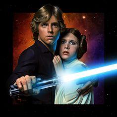 Luke & Leia : STAR WARS: Original Trilogy (1977, 1980 and 1983)