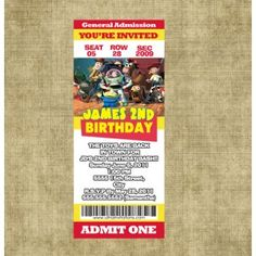 Are you looking for Toy Story photo birthday invitations? Our website will custom create an invitation for you. You can change wording, colors and fonts. Toy Story Invitations, Photo Birthday Invitations, Ticket Invitation, Create Invitations, 2nd Birthday, Toys, Activity Toys, Clearance Toys, Gaming