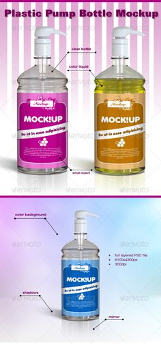 Plastic Pump Bottle Mockup