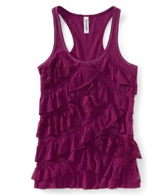 I think I'm utterly in love with this top!  Tiered Ruffle Racerback Tank - Aero Love