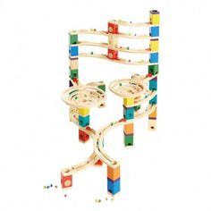 Hape Quadrilla Wooden Marble Run Construction - Cyclone - Quality Time Playing Together Wooden Safe Play - Smart Play for Smart Families Wooden Marble Run, Marble Race, Cardboard Toys, Wooden Toys, Drones, Lego Kai, Hape Toys, Build A Playhouse, Lego Creator