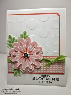 Stamp With Sandy: Flower Patch Stamp Set and All Abloom DSP, Stampin' Up