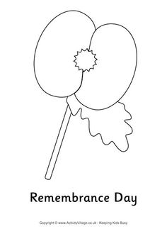 Remembrance day poppies coloring pages Poppy Coloring Page, Cute Coloring Pages, Free Printable Coloring Pages, Coloring Sheets, Poppy Craft For Kids, Crafts For Kids, What Is Remembrance Day, Remembrance Poppy, Poppy Template