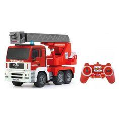 Brandkårsbil MAN med utfällbar stege 1:20 2,4GHz Leksakscity.se
