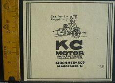 Leerlauf u.Kupplung,KC Motor f.Fahrrad,Kirchheim & Co,Magdeburg,orig.Anzeige1922 | eBay