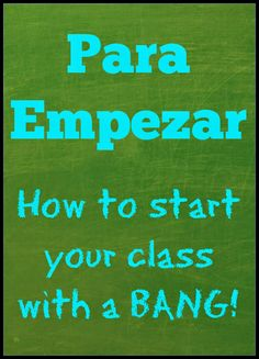 Classroom Routines in Spanish class One of the best forms of classroom management I have found, is having a bell ringer, or as we call it in my class Para Empezar , up an.Class Class or The Class may refer to: Bilingual Classroom, Bilingual Education, Classroom Language, Spanish Classroom, Spanish Teaching Resources, Spanish Activities, Teaching Ideas, Preschool Spanish, Spanish Games
