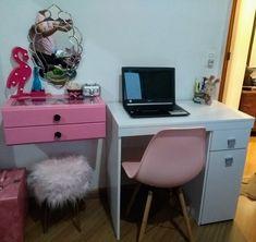 Spa Room Decor, Bedroom Decor, Home Decor, Brimnes Dressing Table, Gold Office, Minimalist Room, Decoration, Girls Bedroom, Room Inspiration