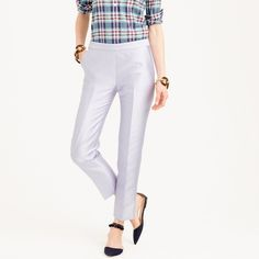Collection cigarette pant in heavy shantung; j crew