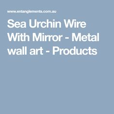 Sea Urchin Wire With Mirror - Metal wall art - Products