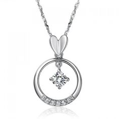 5.09$  Watch here - http://disha.justgood.pw/go.php?t=YE0465201 - Elegant Style 46CM Length Ring and Heart Shape Rhinestone Inlaid Pendant Necklace For Women 5.09$