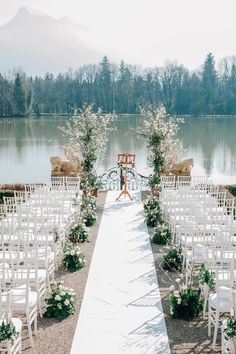 From the Sound of Music to a Wildly Romantic Wedding Celebration Freie Trauung am See<br> The hills are alive with the sound of music. and a dream wedding. Luxury Wedding Decor, Wedding Themes, Wedding Photos, Lake Wedding Decorations, Wedding Tips, Lake Wedding Ideas, Bridal Tips, Wedding Centerpieces, Wedding Inspiration