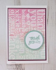 A World of Thanks by Stampin' Up! Tracy May CCMC418