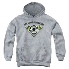 Superman - Soccer Shield Youth Pull-Over Hoodie