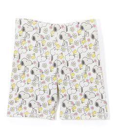 White Snoopy Shorts - Girls