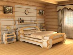 Купить кровать рубленная