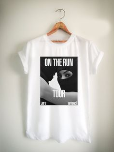 beyonce and jay Z on the run Unisex Tshirt //Price: $15.99 //     #FunnyTShirtsForGuys