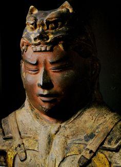 Tempyo style 乾闥婆、興福寺西金堂(創建 天平6年(734))に奉納された八部衆像の一体、仏師将軍万福と画師秦牛養の作、乾漆造、興福寺国宝館所蔵