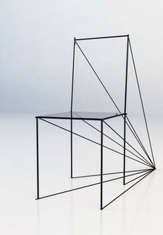Perspective Chair by Artem Zigert - Art furniture design Design Furniture, Chair Design, Cool Furniture, Modern Furniture, Furniture Showroom, Street Furniture, Distressed Furniture, Deco Furniture, Refurbished Furniture