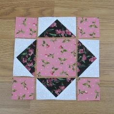 How to Sew a Mrs. Bryan's Choice Quilt Block – Version - How to Sew a Mrs. Bryan's Choice Quilt Block – Version How to Sew a Mrs. Bryan's Choice Quilt Block – Version – Quilt Square Patterns, Beginner Quilt Patterns, Quilting For Beginners, Quilt Block Patterns, Sewing Projects For Beginners, Quilting Tutorials, Pattern Blocks, Square Quilt, Quilting Projects