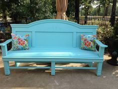 Porch Bench, Hall Bench, Bed Bench, Repurposed Furniture, Rustic Furniture, Painted Furniture, Diy Furniture, Furniture Removal, Automotive Furniture