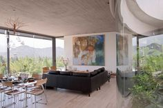 Image 1 of 55 from gallery of Soplo House / Cazú Zegers G. Photograph by Isabel Fernandez Decor Interior Design, Modern Interior, Interior Decorating, Villa Design, House Design, Curved Walls, Architecture Design, Living Spaces, Home And Family