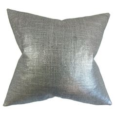 Add a stylish touch to your sofa or settee with this lovely cotton pillow, showcasing a coal hue and down fill.  Product: Pillow...