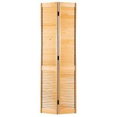 Masonite 30 in. x 80 in. Full-louvered Solid-Core Smooth Unfinished Pine Bi-Fold Door-78075 - The Home Depot