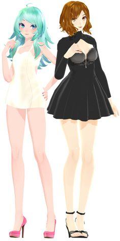 Hyuna Miku and Meiko by Crystallyna